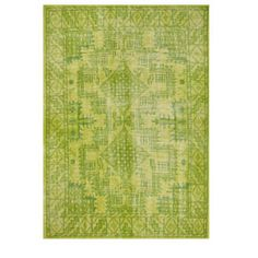 Sentimental Handknotted Lime Rug
