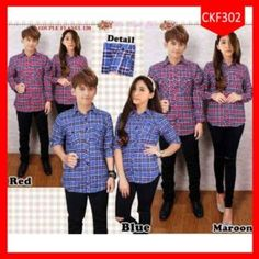 Fashion Kemeja Couple Flanel Love Combi Terlaris