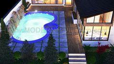 طراحی ویلا دید درشب Modern Villa Design