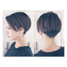 Photo by Asian Short Hair Inspiration on May Short Hair Undercut, Short Pixie Haircuts, Short Hairstyles For Women, Cool Hairstyles, Short Straight Hair, Girl Short Hair, Short Hair Cuts, Hair Looks, Hair Inspiration