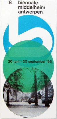 Paul Ibou, Biennial Middelheim Antwerp   poster, 1965