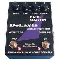 Carl Martin DELAYLA Delay Pedal with Second Delay Tap