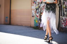 The Most Authentically Inspiring Street Style From New York #refinery29  http://www.refinery29.com/2015/09/93788/ny-fashion-week-spring-2016-street-style-pictures#slide-31  A skirt that catches the light just so....