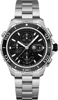 Tag Heuer Aquaracer Black Dial Chronograph Stainless Steel Automatic Mens Watch CAK2110BA0833 - List price: $4,300.00 Price: $2,664.00