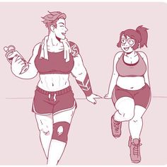 """Workout buddys"" #mei #zarya #overwatch"