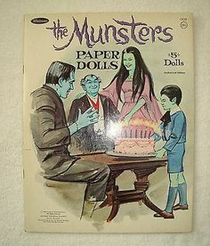 The Munsters Paper Dolls Original Excellent Uncut RARE not copies 1966 Goodie | eBay