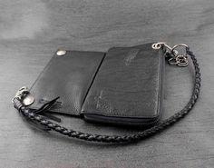 Aliexpress.com : Buy New Men's Biker Rocker Long Genuine Leather Wallet w/ Purse Chain Black from Reliable chain oil filter wrench suppliers on Biker jewelry | Alibaba Group