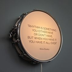 Snare Drum Wall Light with Elvis Presley Quote / Music Lamp / Elvis / The King – Diy Home Crafts Home Music Rooms, Music Studio Room, Drums Studio, Music Bedroom, Men Bedroom, House Music, Cd Wall Art, Music Wall, Music Music