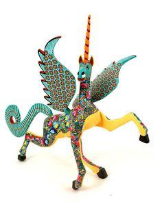 Oaxacan Wood Carvings Maria Jimenez Unicorn