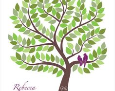 Invitado personalizado libro regalo de boda libro de visitas alternativas compromiso regalo libro alternativa boda aniversario libro árbol pájaros del amor
