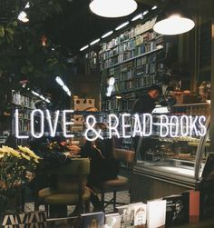 cafewithstyle: Who doesn't love book cafe? - Tea, Coffee, and Books I Love Books, Good Books, Books To Read, My Books, Coffee And Books, Library Books, Book Cafe, Book Store Cafe, Book Shops