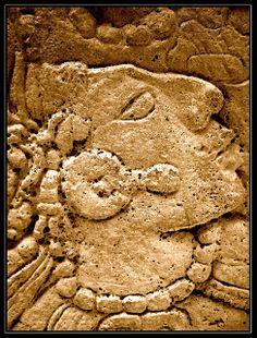 Maya, bas-relief, Yaxchilan, Mexico