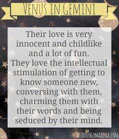 Astrology Marina: Venus in Gemini ♀♊ Gemini in Love