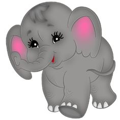 Baby Cartoon Animals Clip Art | Cute Baby Elephant Images