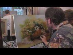 "Видеоурок Сахарова ""Как научиться рисовать ромашки"" живопись для начинающих, уроки рисования - YouTube"
