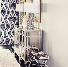 Modern LUX dining-room, home, decor, glamour   Designed by @blackdovelifestyle