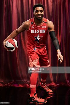Donovan Mitchell of Team Giannis poses for a portrait during the NBA All-Star Game as part of 2020 NBA All-Star Weekend on February 2020 at the United Center in Chicago, Illinois. Get premium, high resolution news photos at Getty Images Jazz Basketball, Donovan Mitchell, United Center, All That Jazz, Utah Jazz, Jordan 23, Nba Players, All Star, Poses