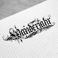 """Year of wandering."" #German #travel #calligraphy #calligraphyart #calligraffiti #detailing #TYxCA #flourishing #lettering #typegang #typespot #handstyle #handmadefont #thefinesttype #typematters #artoftype #instagramaddicts #instapopular #instagood #instafamous #instalove #instagrammers #igers #igdaily #igaddicts #instabeautiful #instatype #typespire"