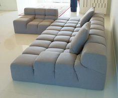 For Sale on - B&B Italia Tufty-Time gray fabric sofa set, includes 2 pillows / Made in Italy. Contemporary Sofa, Modern Sofa, Living Room Sofa Design, Living Room Designs, Apartment Furniture, Sofa Furniture, Floor Couch, Metal Sofa, Sofa Set Designs