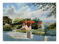 A Casa da Jesus - Póvoa Painting, Art, Water Colors, Houses, Art Background, Painting Art, Kunst, Paintings, Performing Arts
