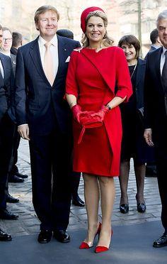 Koning Willem-Alexander en koningin Maxima bezoeken Hamburg. beeld ANP 20 maart 2015