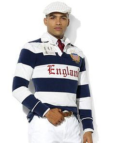 """Ralph Lauren Team USA Olympic """"England"""" Cotton Rugby"""