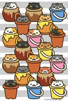 Neko Atsume has new cats, and all is right with the world Neko Atsume Wallpaper, Kawaii Wallpaper, Cute Little Kittens, Cute Cats, Klepto Cat, Neko Cat, Kitty Games, Cat Drawing, Cat Art