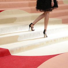 Celebrities walked a red (or red-ish) carpet at #MetGala2016 where @nytimes staff photographer @damonwinter was on assignment tonight for @nytimesfashion. The model @louiseparker whose feet are pictured here was an early arrival. Officially the #MetGala is the @metmuseums Costume Institute Benefit a #blacktie extravaganza held the first Monday in May. Unofficially tonights festivities have been called many things including the party of the year the Oscars of the East Coast and somewhat…