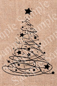 Modern Christmas Tree INSTANT DOWNLOAD Christmas by BridalBust, $0.90