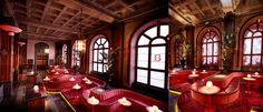 Το Bon Bon Bar, είναι κατακόκκινο, θεαματικό και βρίσκεται στον δεύτερο όροφο του Clarion Hotel Post στο Gothenburg της Σουηδίας. Blog, Design, Design Comics