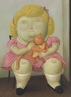 FERNANDO BOTERO (1932) Girl with Cat