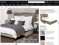 Grey bed from Next