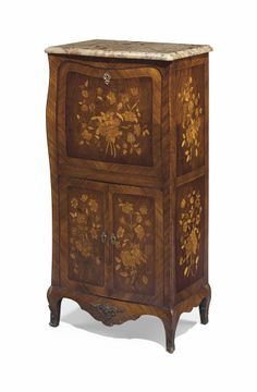 A FRENCH ORMOLU-MOUNTED TULIPWOOD, MAHOGANY AND MARQUETRY SECRETAIRE A ABATTANT EARLY 20TH CENTURY