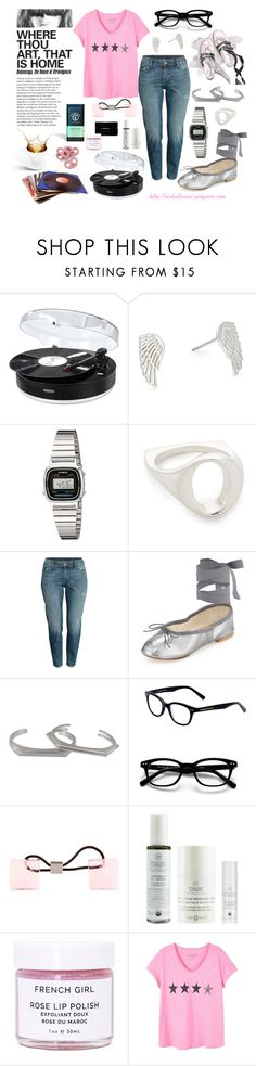"""""""Homebody Saturday"""" by virtudiaries ❤ liked on Polyvore featuring Jensen, Casio, Pamela Love, Behance, H&M, Ballet Beautiful, Tiffany Kunz, Kate Spade, Louis Vuitton and French Girl"""