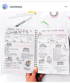 Get inspired by this bullet journal weekly spread!