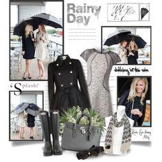 Walking In The Rain, created by thewondersoffashion on Polyvore