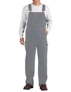 5822d58add90 Striped Bib Overalls For Men Blue White Hickory Stripe Size 42 30