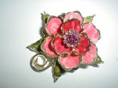coro vintage floral brooch by fadedglitter42263 on Etsy, $48.00
