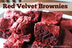 Red Velvet Brownies  -- SO delicious and so easy only using 4 ingredients