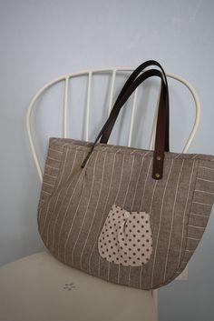 OOAK . Zakka Stripe Tote Bag. $80.00, via Etsy.
