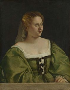 Portrait of a Lady Portrait of a Lady Italian, Venetian about 1515-20. National Gallery, London by renzodionigi, via Flickr