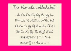 The Vimala Alphabet