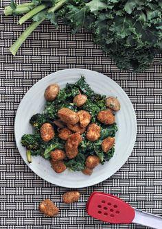 Sesame Ginger Poppers over Broccoli Kale Salad @spabettie
