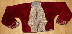 Ottoman  burgundy   velvet jacket with gold metallic threads