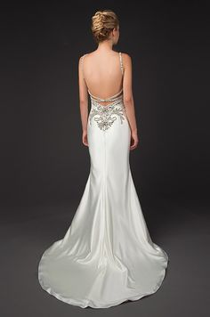 Stunning! - beaded low back wedding dress. Winnie couture, Fall 2014