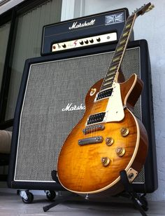 Les Paul w/ Marshall Stack #marshall #amp