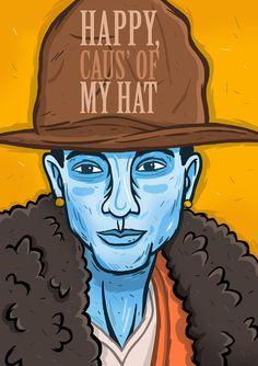 Andreas Denzer - Hamburger Illustrator & Designer - Pharrell Williams • www.andreasdenzer.de