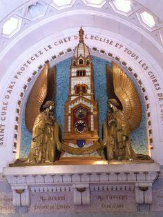 The incorrupt heart of St John Vianney, Ars, France