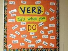 Verb: It's what you do! Love this bulletin board!