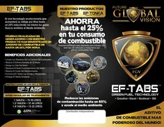 Nuestras Fan Page https://www.facebook.com/ColombiaFutureGlobalVision https://www.facebook.com/pages/Future-Global-Vision-M%C3%A9xico-Ef-Tabs-FGV/829211997163697 https://www.facebook.com/pages/Future-Global-Vision-Chile-Ef-Tabs-FGV/634101306692034 https://www.facebook.com/pages/Future-Global-Vision-Rep-Dominicana-Ef-Tabs-FGV/1596986160556921 https://www.facebook.com/pages/Future-Global-Vision-Espa%C3%B1a-Ef-Tabs-FGV/709584182486925 Nuestra Landi Page http://eftabs.wix.com/ahorrecombustible